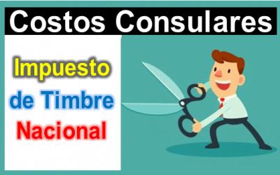 ELIMINACION PAGO IMPUESTO DE TIMBRE CONSULAR