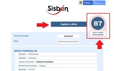 CERTIFICADO DEL SISBEN IV